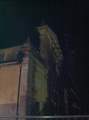 La Parrocchia lesionata dal terremoto